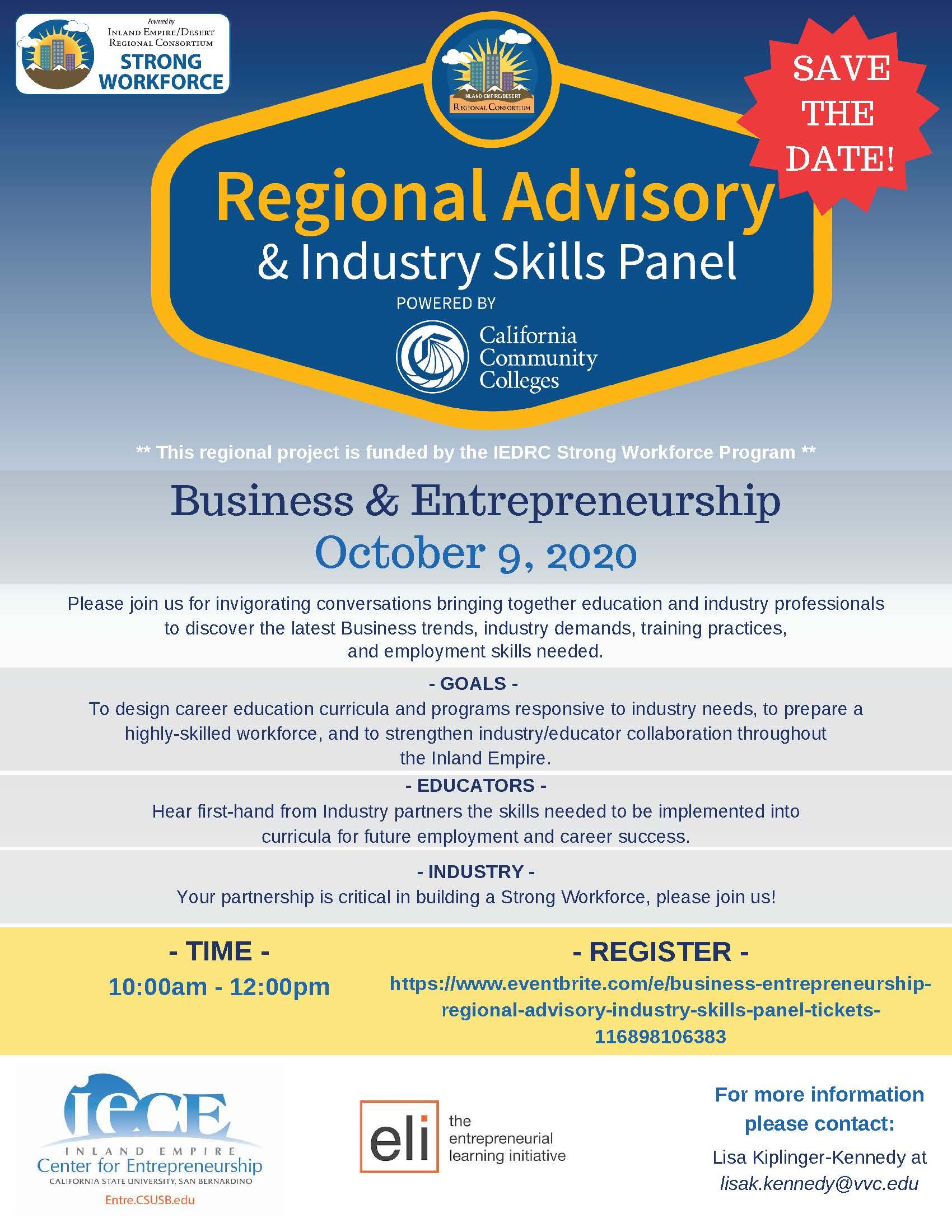 Business & Entrepreneurship Regional Advisory & Industry Skills Panel