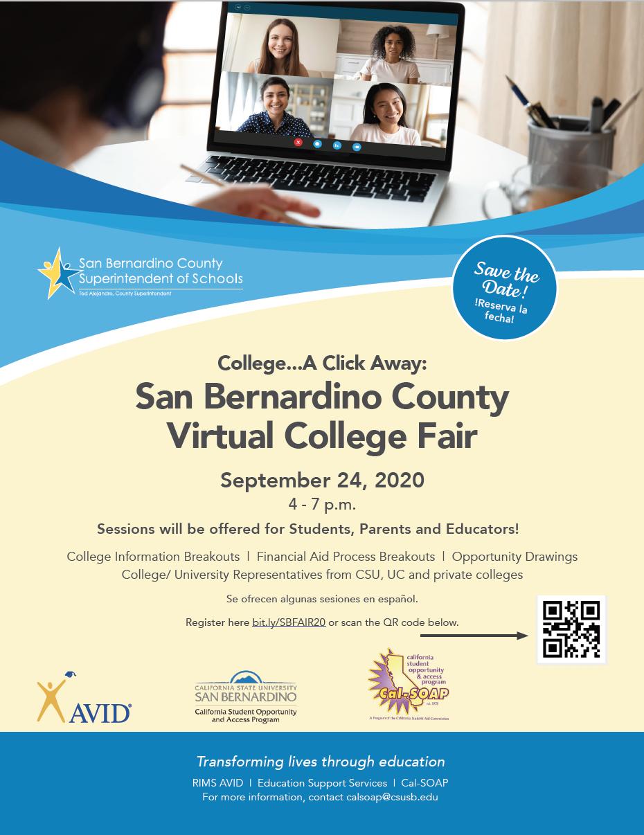 San Bernardino County Virtual College Fair
