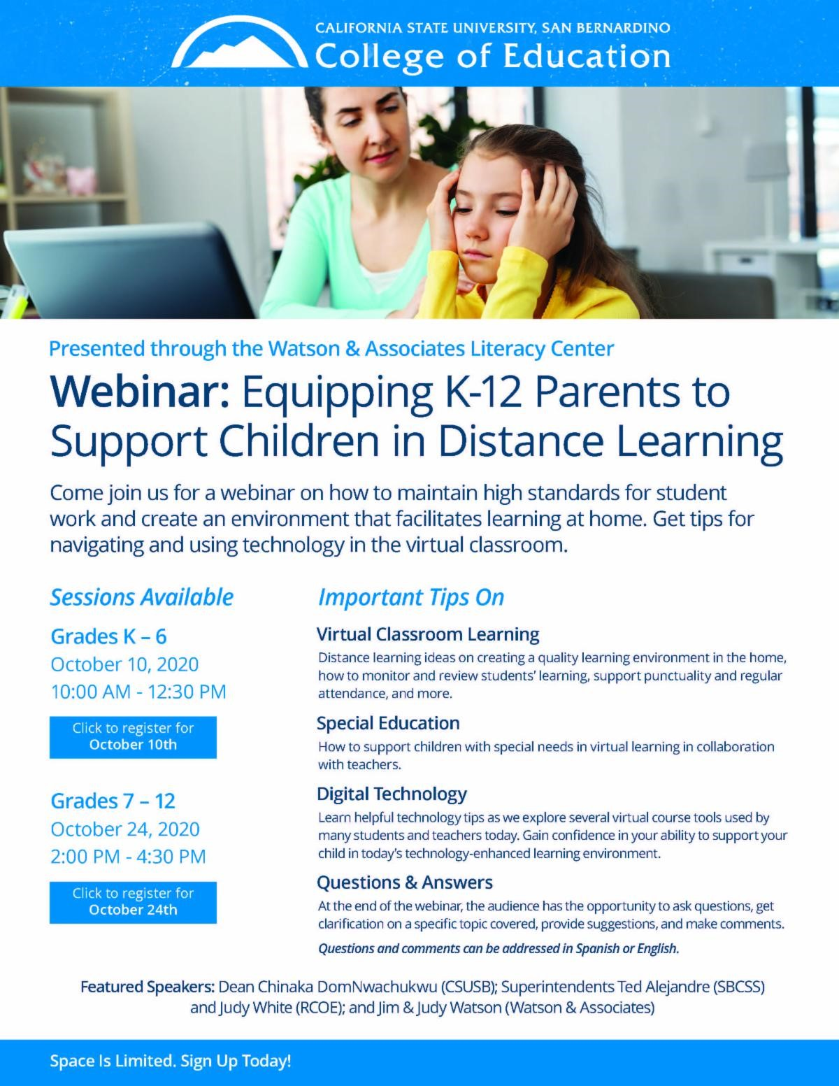 Equipping K-12 Parents to Support Children in Distance Learning (2)