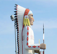 """""""Standing Brave"""" One Big Indian Chief!"""