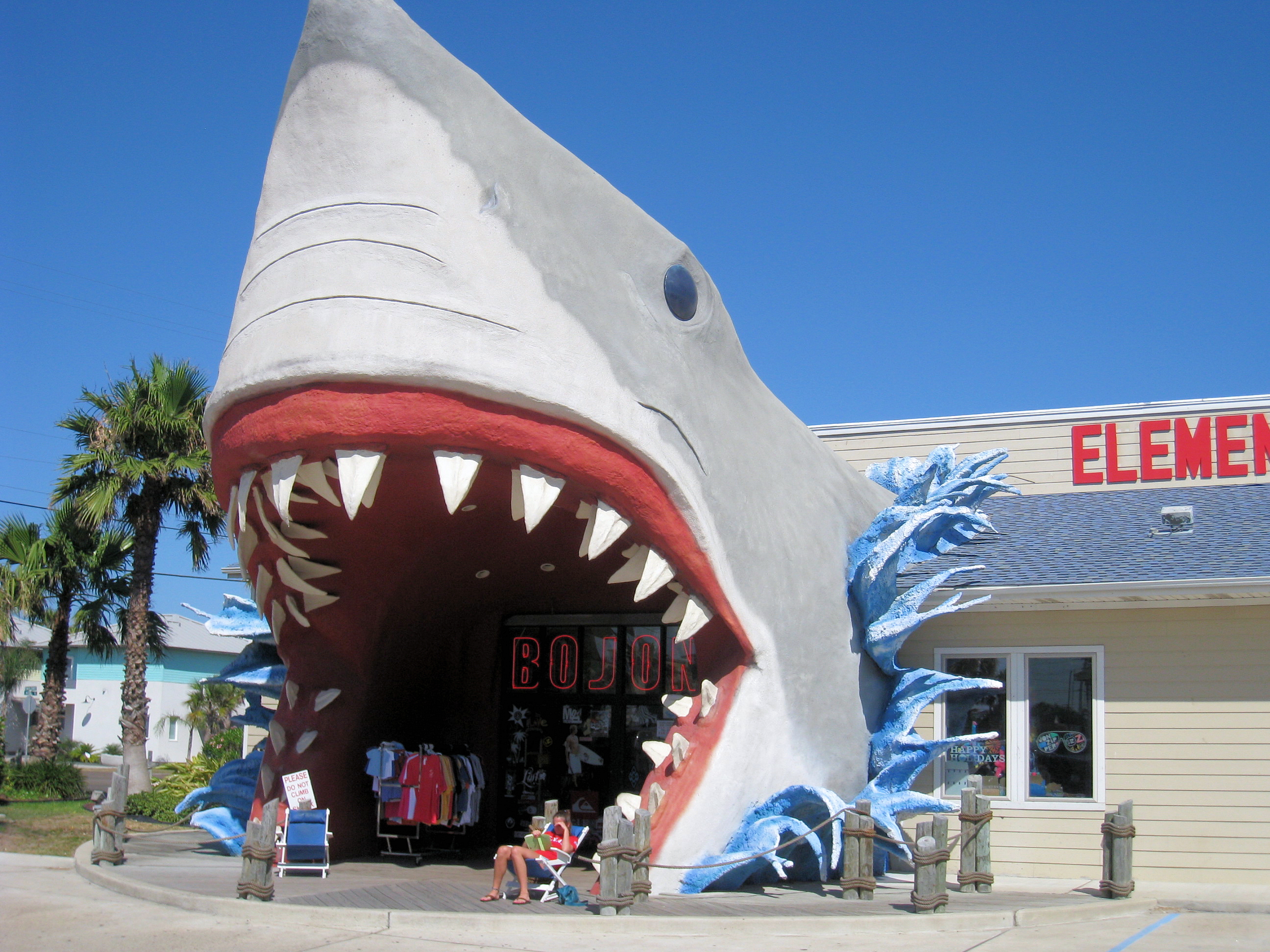 Another Giant Shark Entrance!