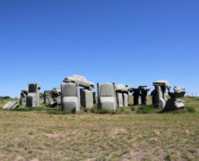 It's Carhenge!