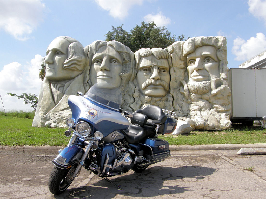 Mini Mount Rushmore!