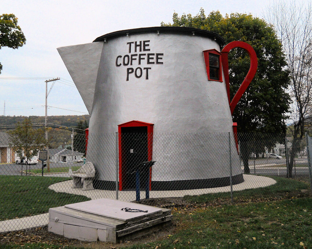 Bedford's Giant Coffee Pot