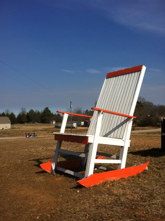 Hall County Giant Chair