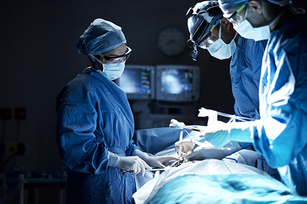 orthopedic spine surgery being performed by dr. javier reto