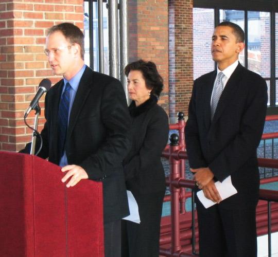 Cam Davis with President Obama and Jan Shakowsky