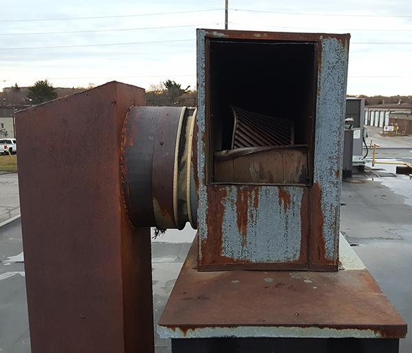 Commercial Cooking Exhaust Fan Repair