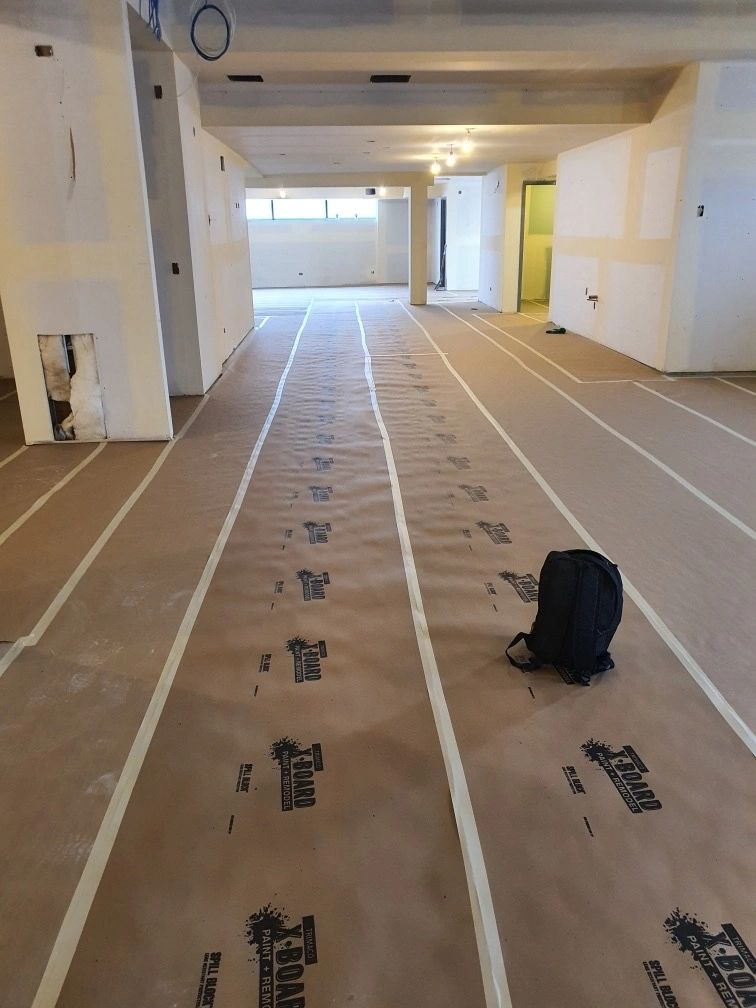 New floors of Midway Dispensary Covered for protection
