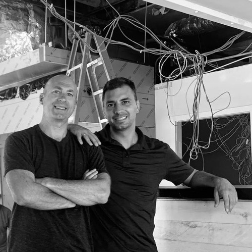 Mike Kaulentis & David Fettner onsite at Grow America Builders Project