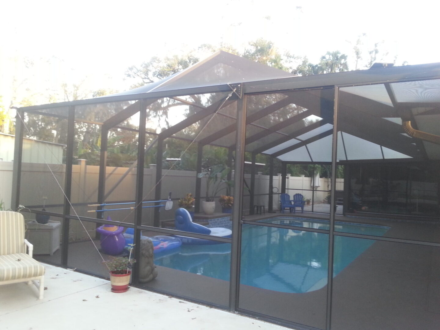 An outdoor space that received our sliding glass door repair in Palm Coast, FL