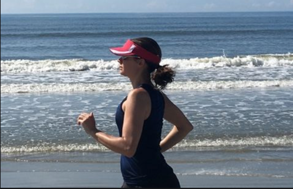 Anne Peled, M.D. Exercising Running on San Francisco Breach