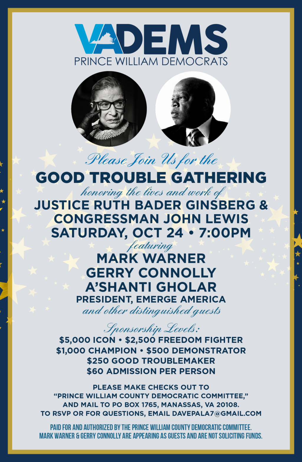Prince William County Dems Good Trouble Gathering Event