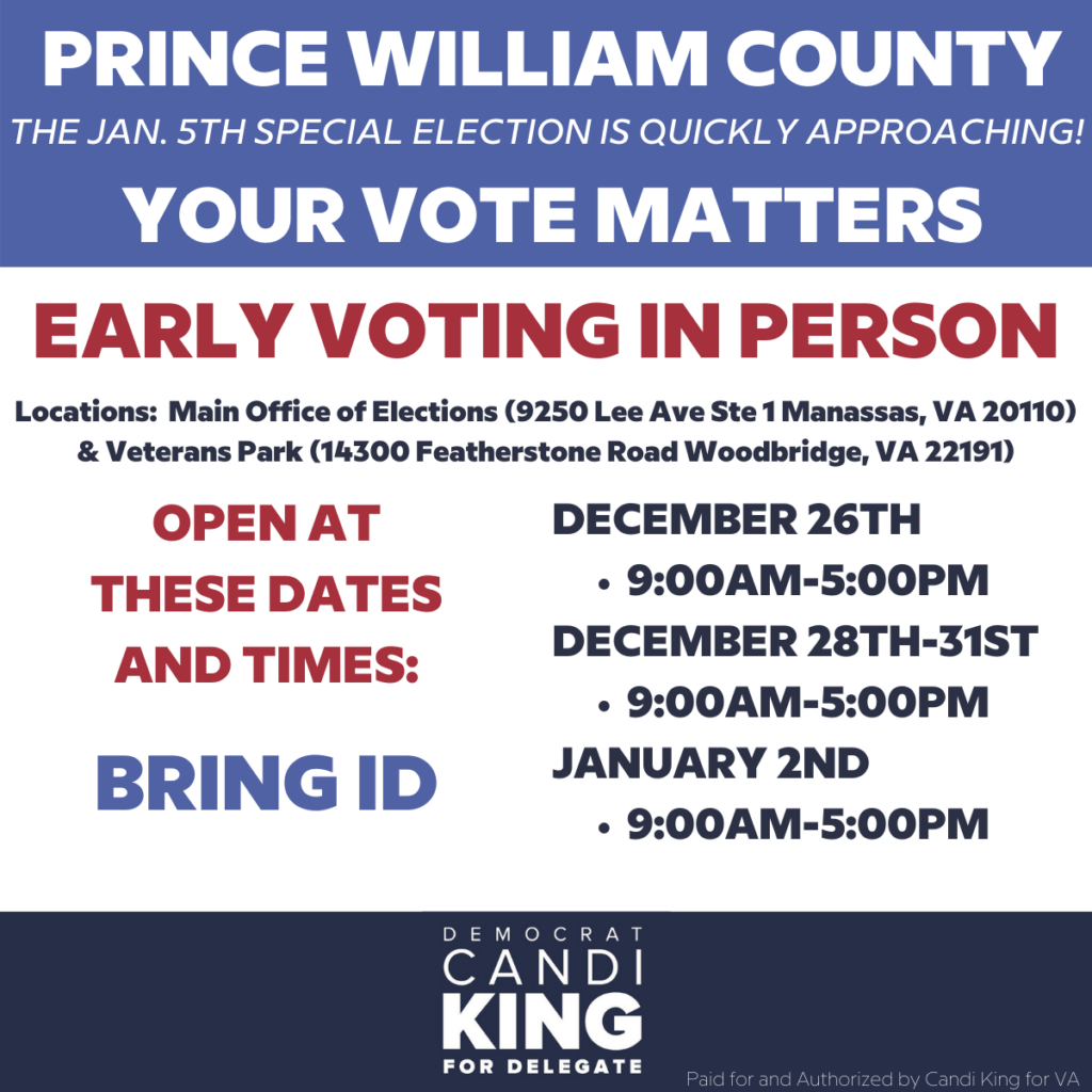 Prince William County Early Election Candi King