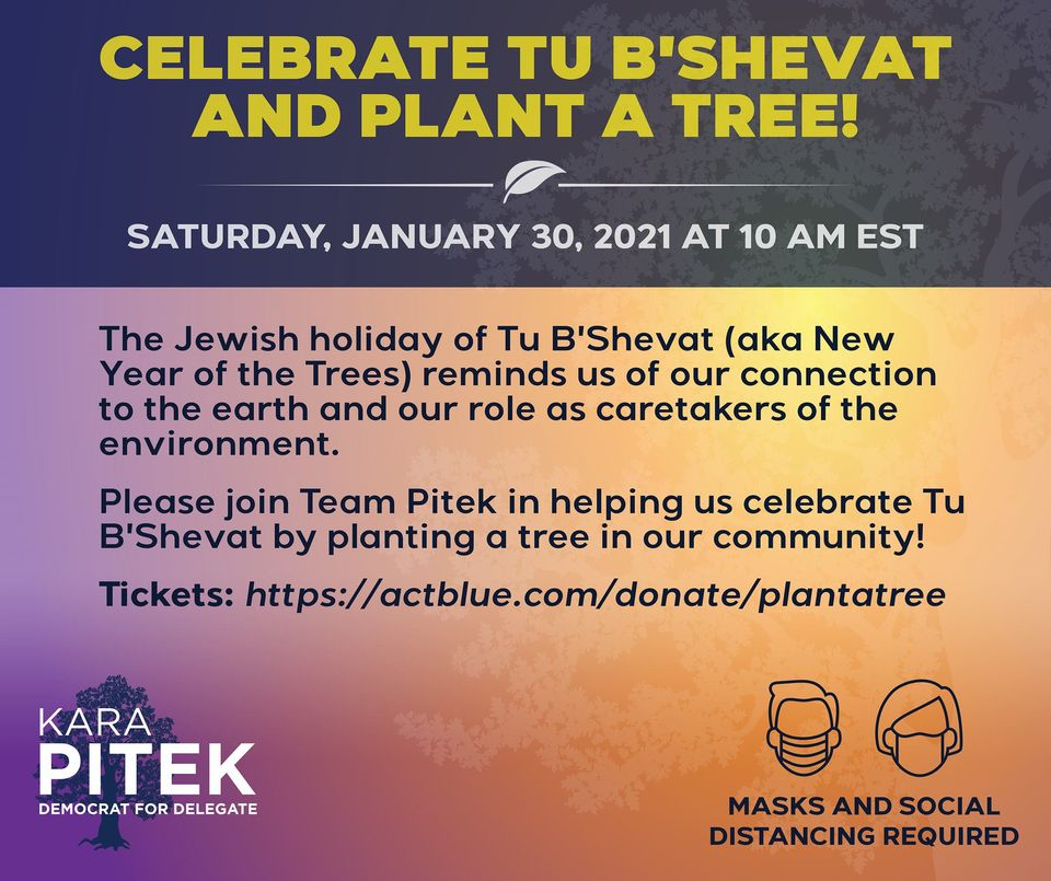 2021 Celebrate Tu BShevat And Plant A Tree