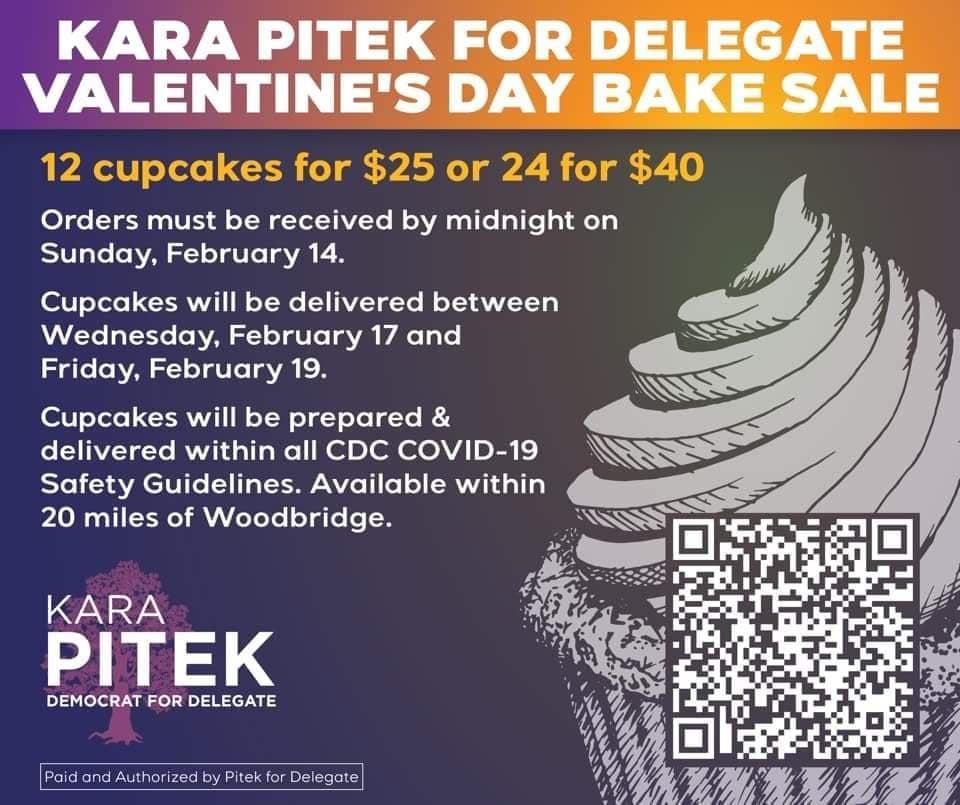 2021 Kara Pitek For Delegate Valentines Day Bake Sale