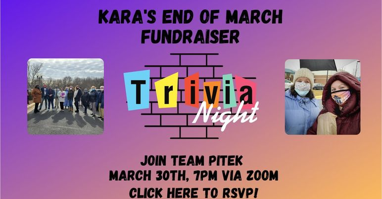 Kara's End Of March Fundraiser - Trivia Night