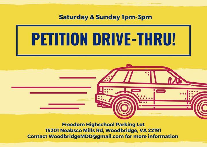2021 Petition Drive Thru At Freedom Highschool