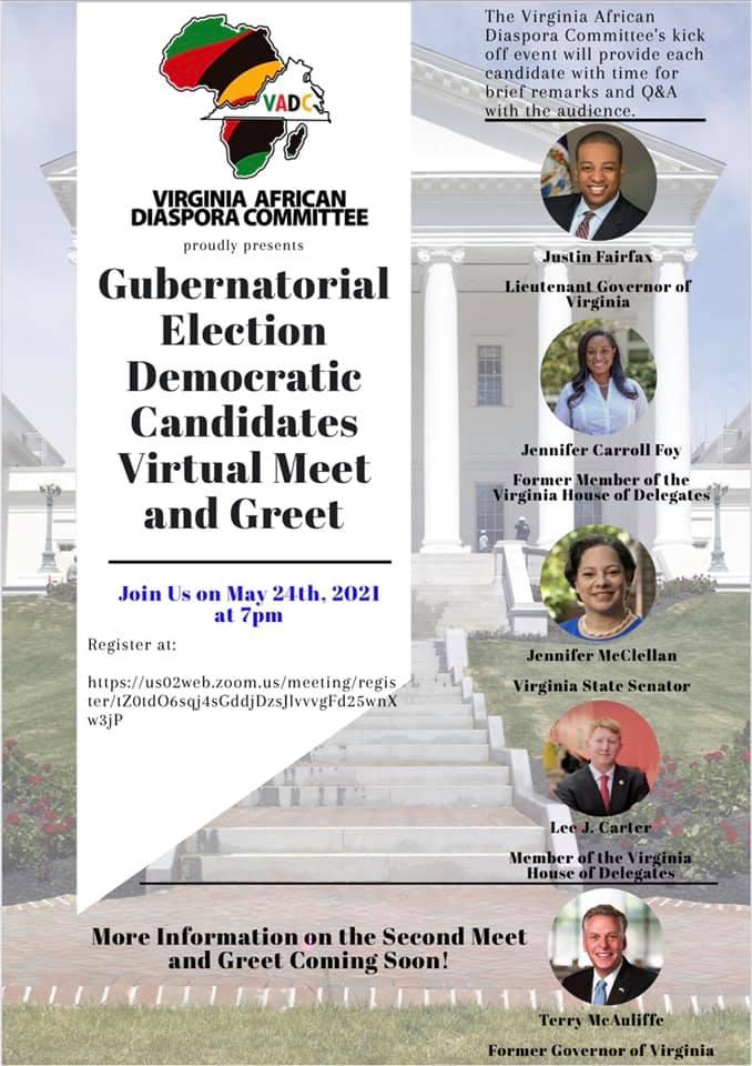 Gubernatorial Election Democratic Candidates Virtual Meet and Greet