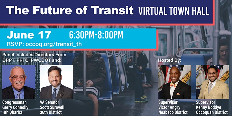 The Future of Transit Virtual Town Hall with Supervisors Victor Angry and Kenny Boddye