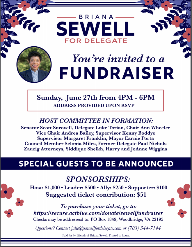 Briana Sewell For Delegate Fundraiser