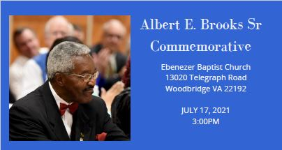 Albert E Brooks Sr Commemorative