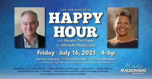 Happy Hour with Michelle Maldonado and Tim Kaine