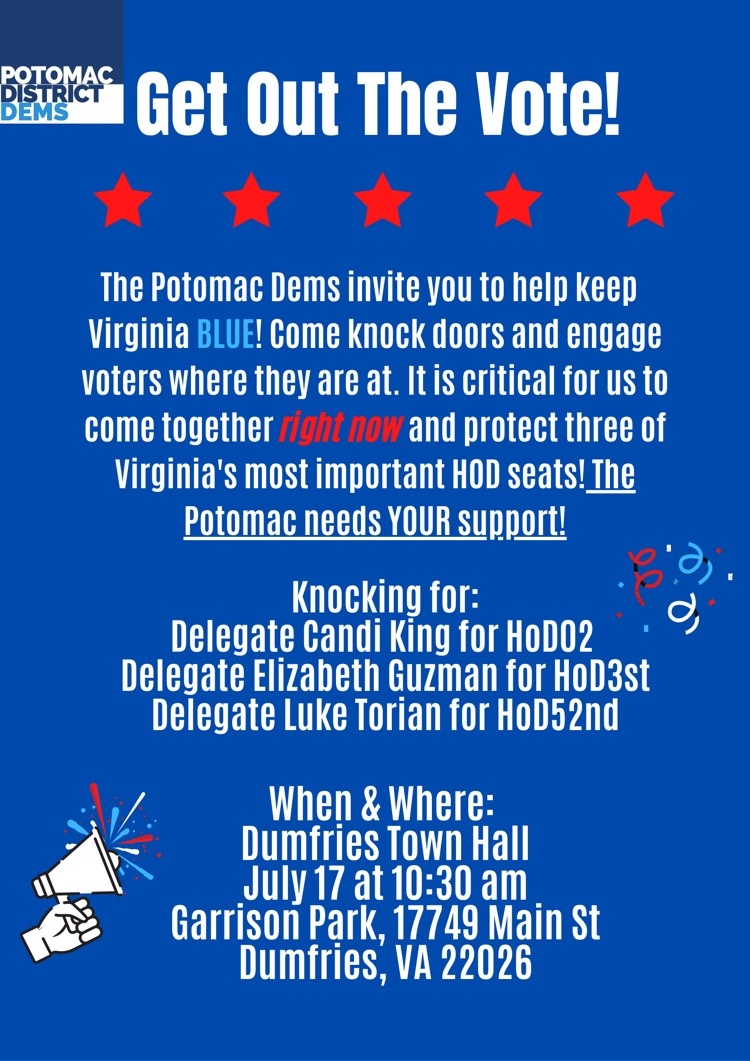 Prince William County Potomac District Get Out The Vote
