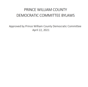 Prince William County Democratic Committee Bylaws