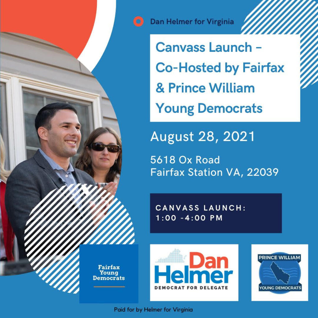 Dan Helmer for Virginia Canvass Launch Co-Hosted by Prince William and Fairfax Young Democrats