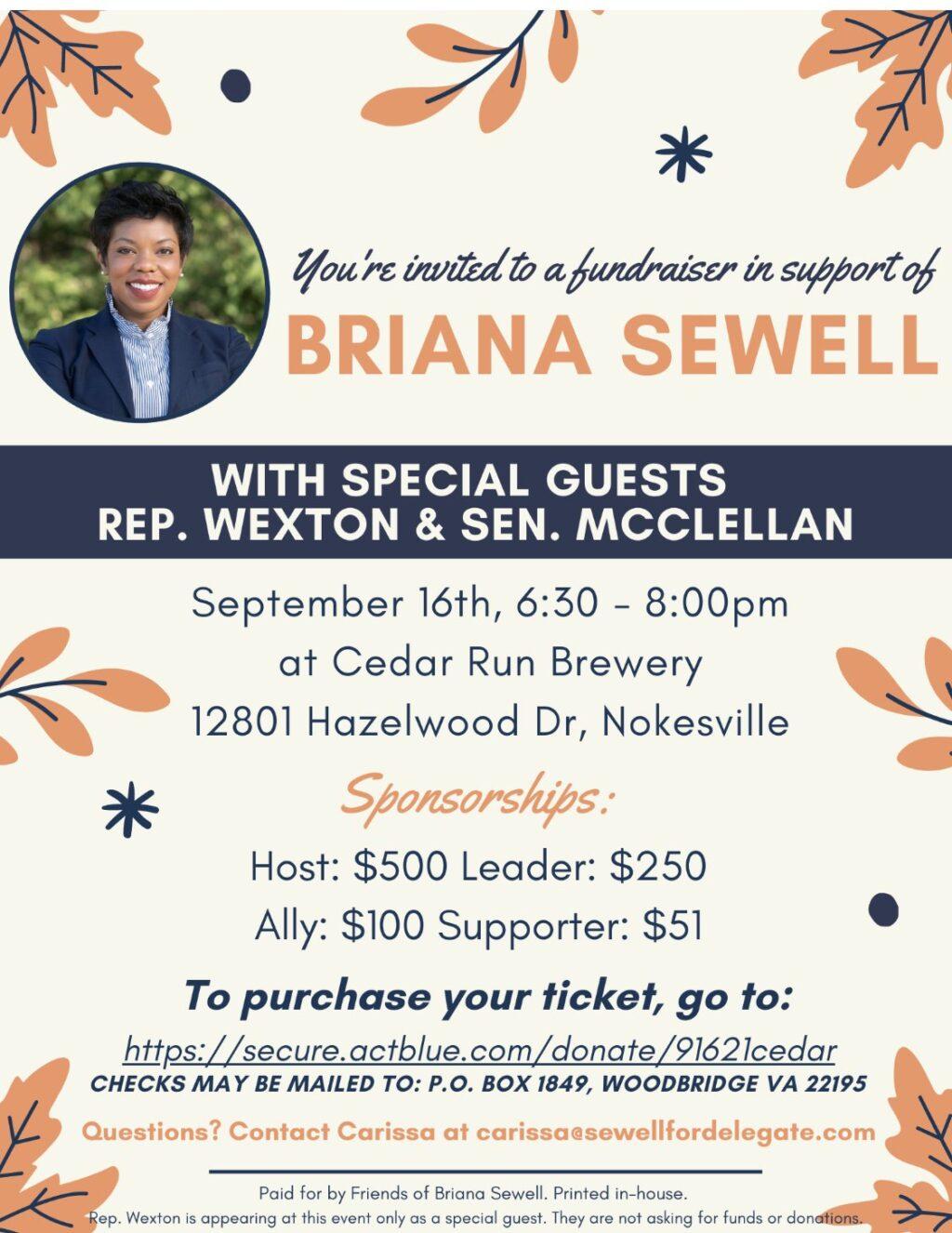 Briana Sewell Fundraiser