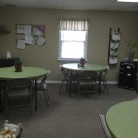 Sage breakroom