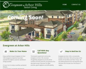 Evergreen at Arbor Hills web development and hosting