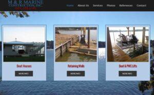 M &R Construction web development