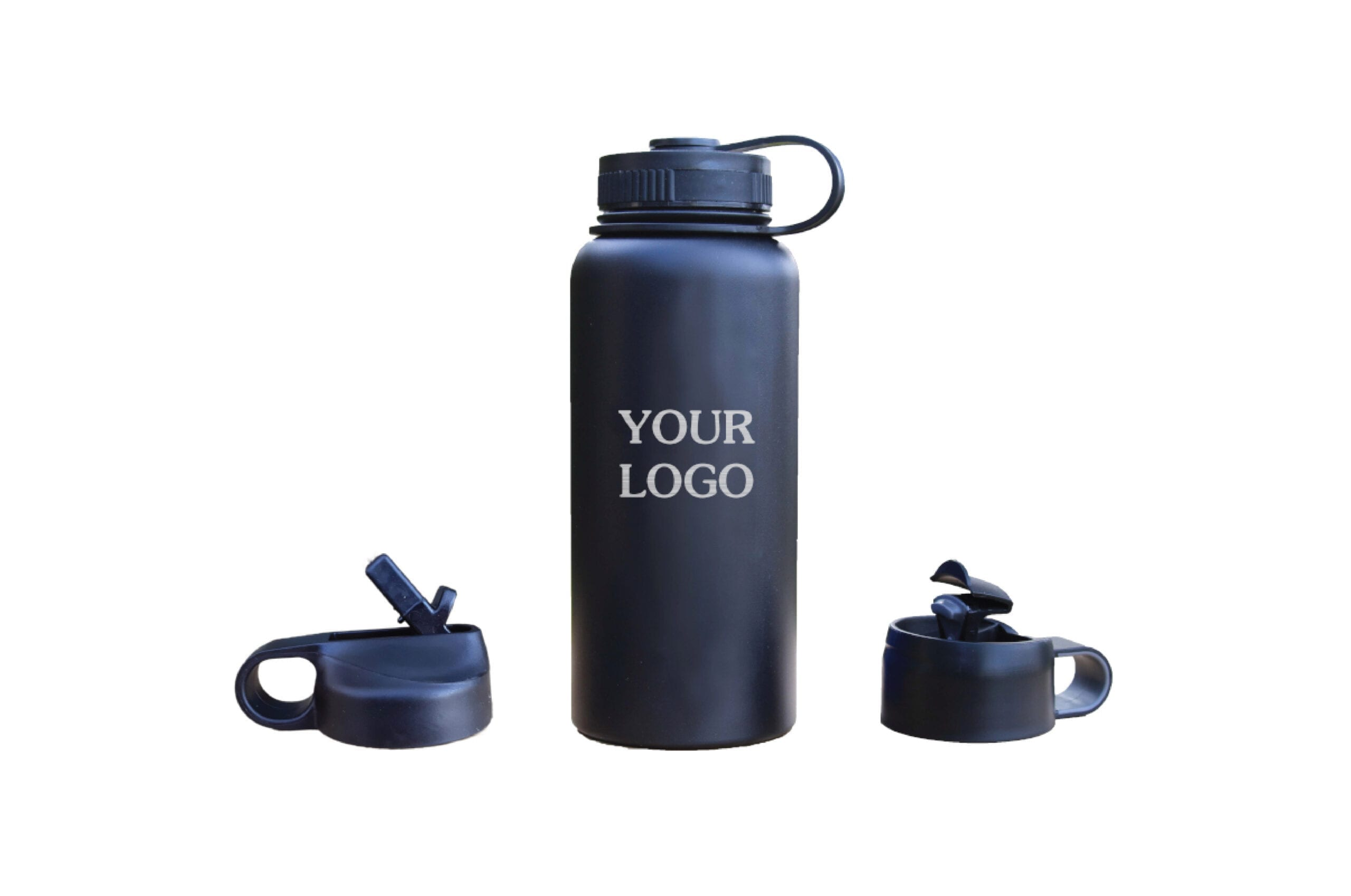 your logo black bottle