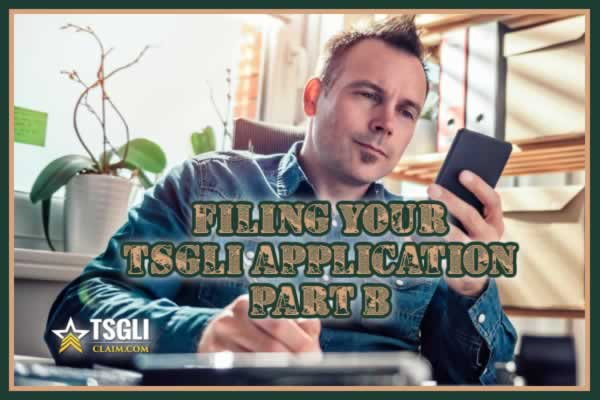 Filing your TSGLI Application - PART B