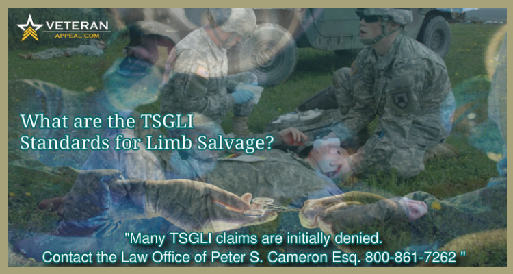 TSGLI Standards for Limb Salvage