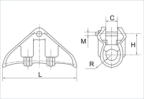 XGF suspension clamp drawing