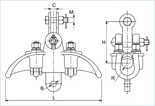 XT suspension clamp drawing