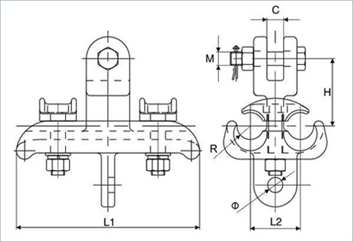 XTS suspension clamp drawing