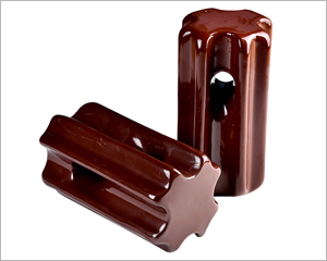 brown porcelain stay insulator