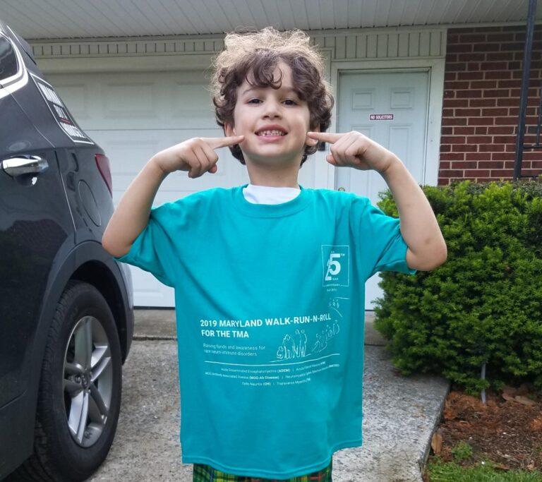 Josh ready for the SRNA MD Walk-Run-N-Roll in 2019