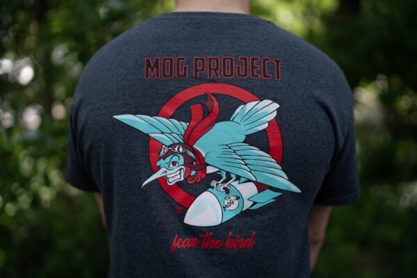 Close-up of our Fear the Bird Design