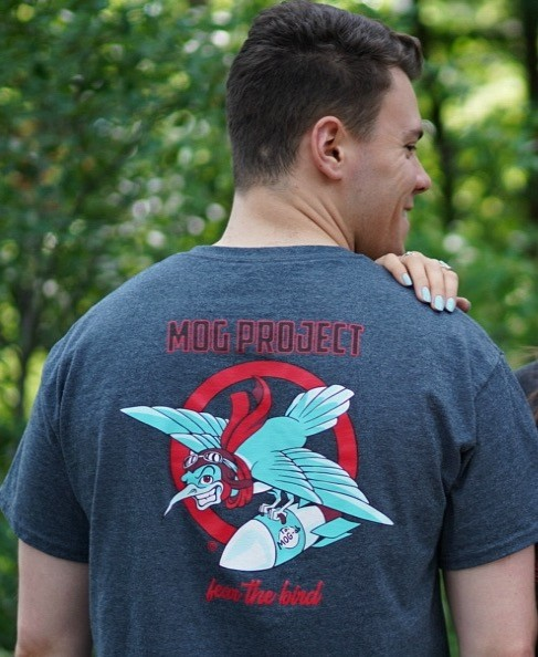 Mike Nowin models our Fear the Bird T-Shirt
