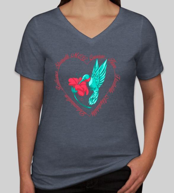 Ladies Hummingbird Shirt in Heather Slate