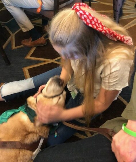 Newcastle at the Guthy-Jackson Foundation Conference with his friend Linnea
