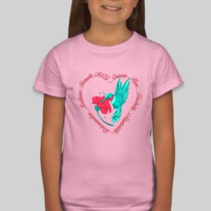 GIrls Hummingbird Shirt in Pink