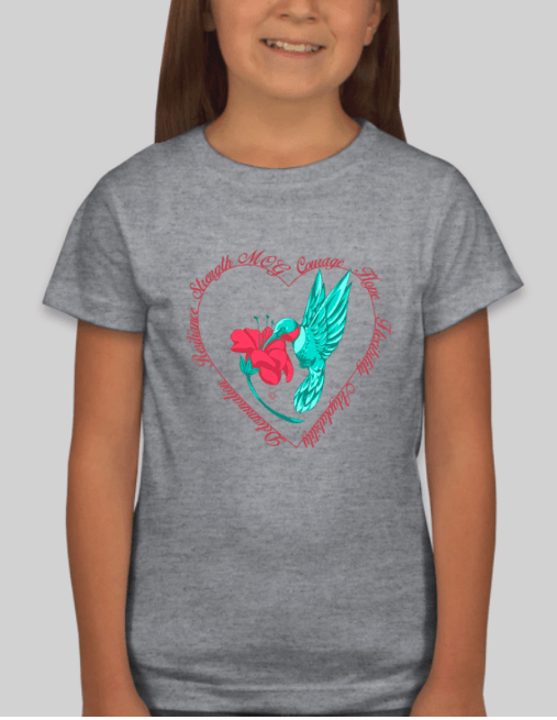 Girls Hummingbird Shirt in Heather