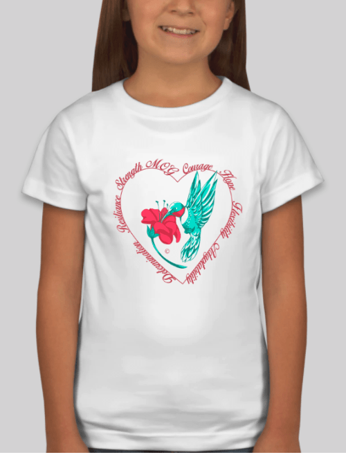 GIrls Hummingbird Shirt in White