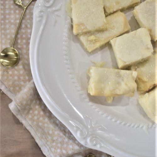 Almond Shortbread cookie bars